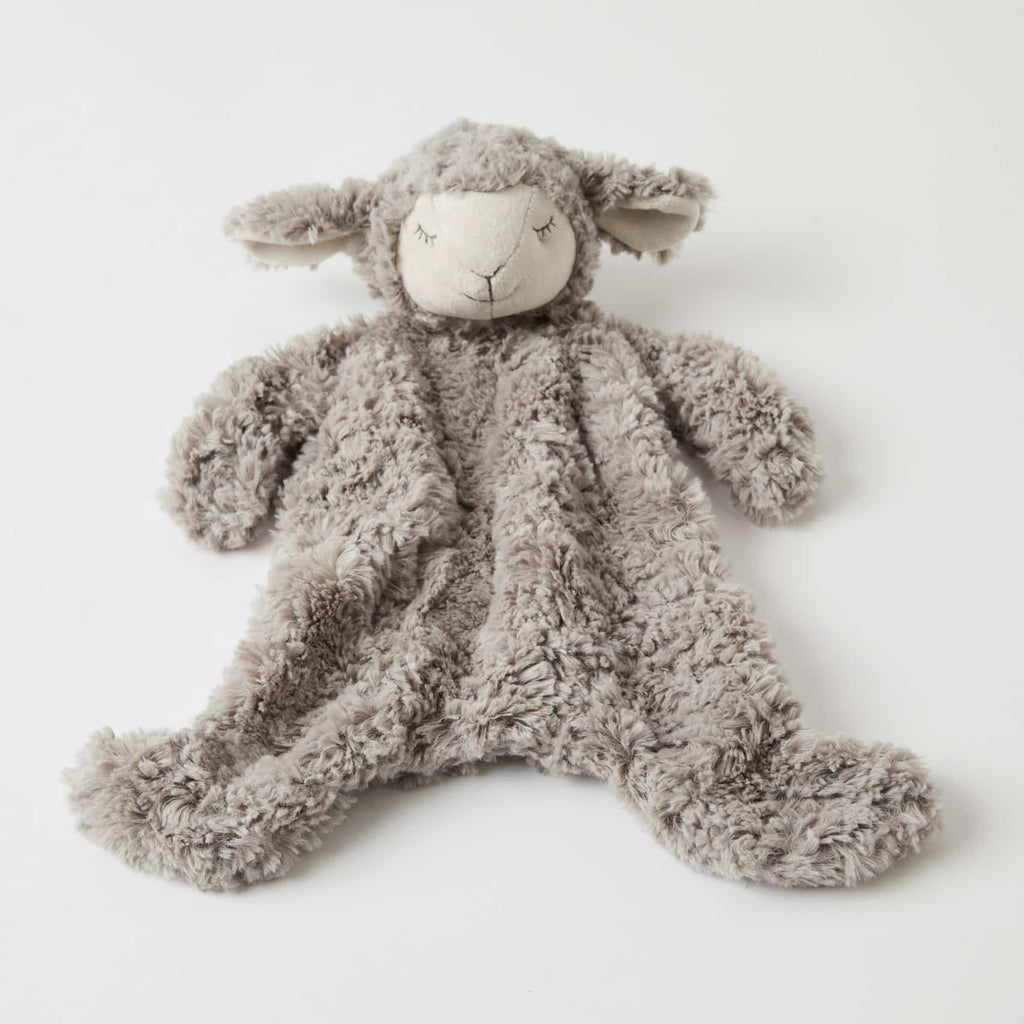 Sheep plush Comforter. Shop now at Sticky Fingers Children's Boutique, Niddrie.