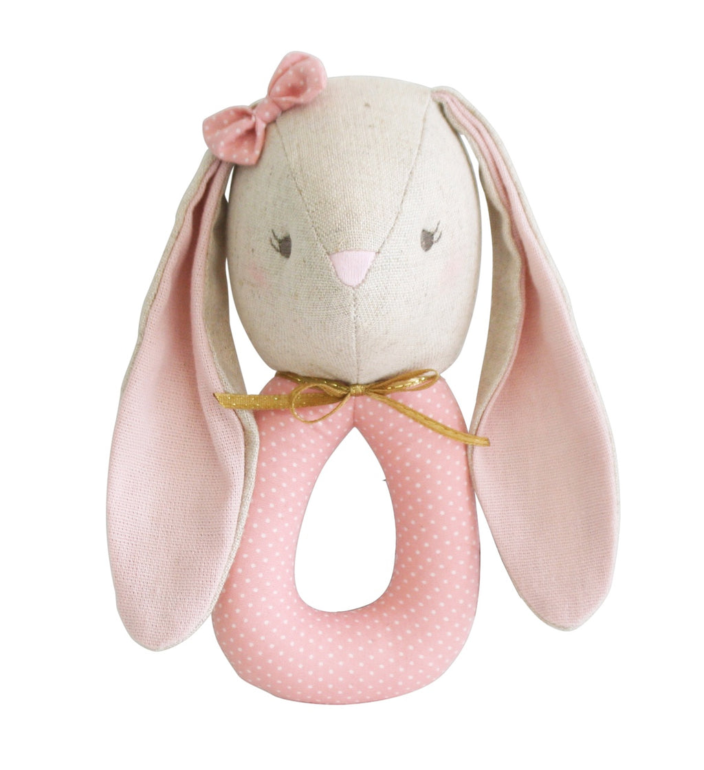 Alimrose Baby Bunny Pearl Grab Rattle, Sticky Fingers Children's Boutique Niddrie, Melbourne