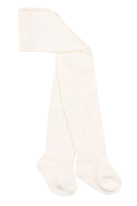 Open work tights ivory - Minihaha - Sticky Fingers Children's Boutique