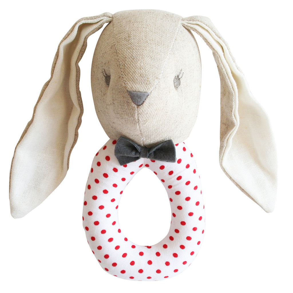 Alimrose Rattle, Baby Bunny Louie, Sticky Finger's Children's Boutique Niddrie Victoria, Melbourne Children's Boutique