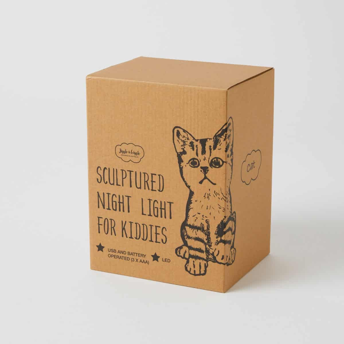 Cat Night Light, Jiggle & Giggle, Night Light - Sticky Fingers Children's Boutique, Niddrie