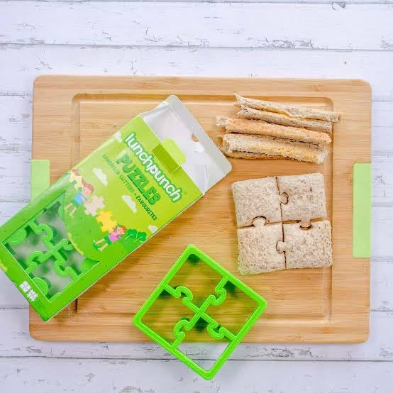 Montii lunch punch Puzzles Sandwich cutter. Shop online or in store at Sticky Fingers Children's Boutique, Niddrie, Melbourne.