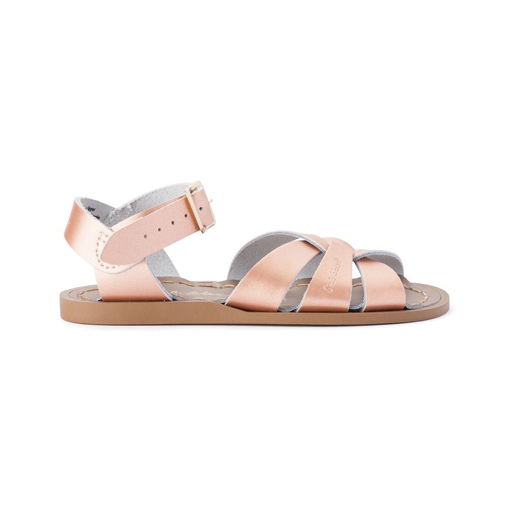 Saltwater Original Sandals in Rose Gold at Sticky Fingers Children's Boutique