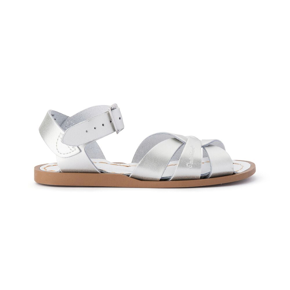Saltwater Original Sandals in Silver at Sticky Fingers Children's Boutique