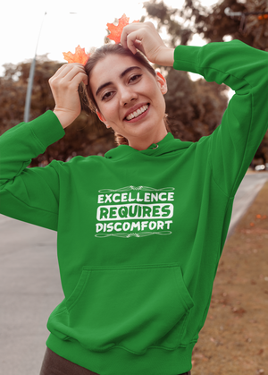 An irish green excellence requires discomfort hoodie from an inspire clothing store
