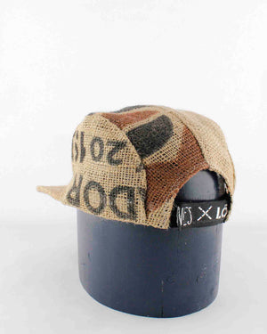 Up-cycled Coffee sack Cap 03