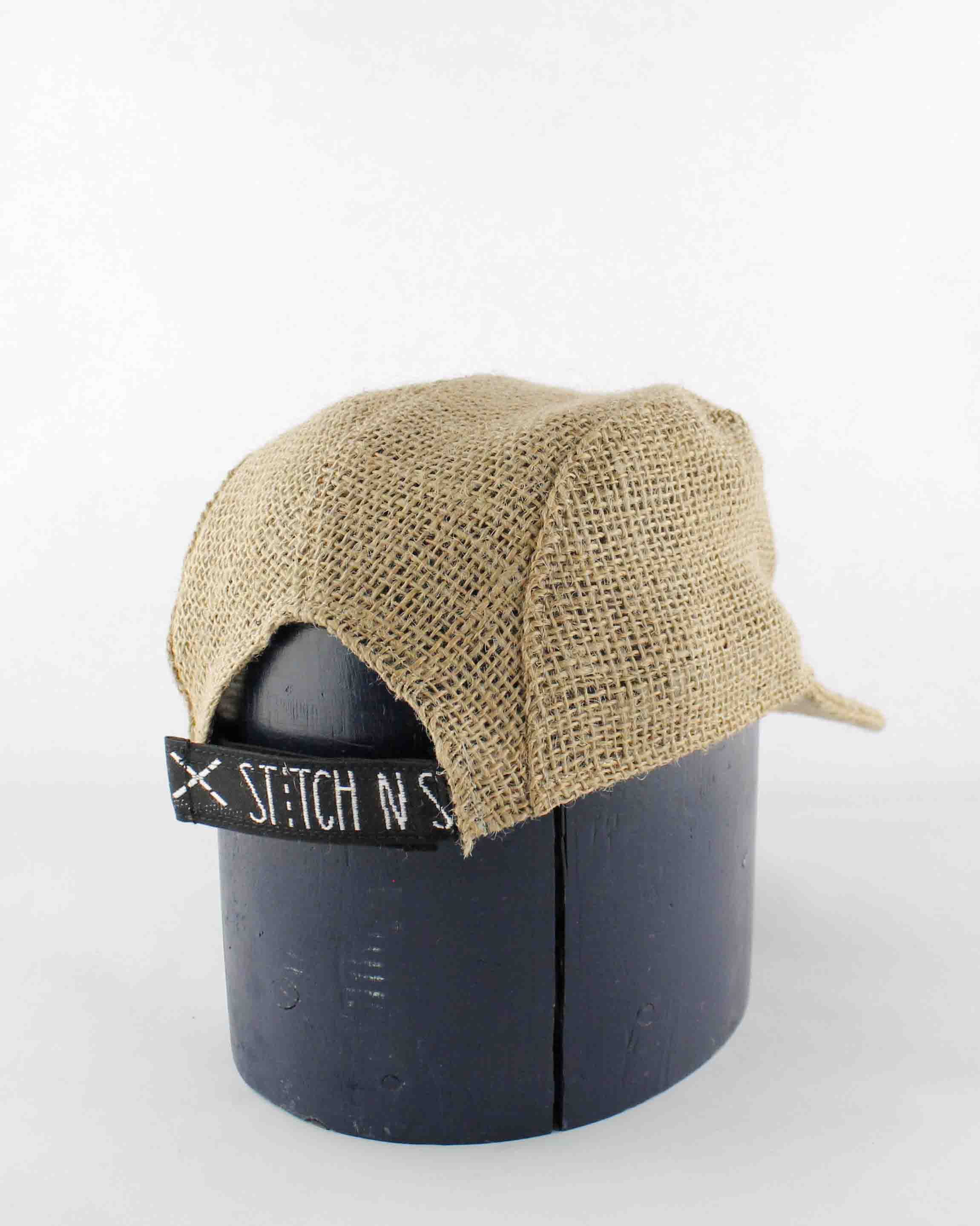 Up-cycled Coffee sack Cap 07