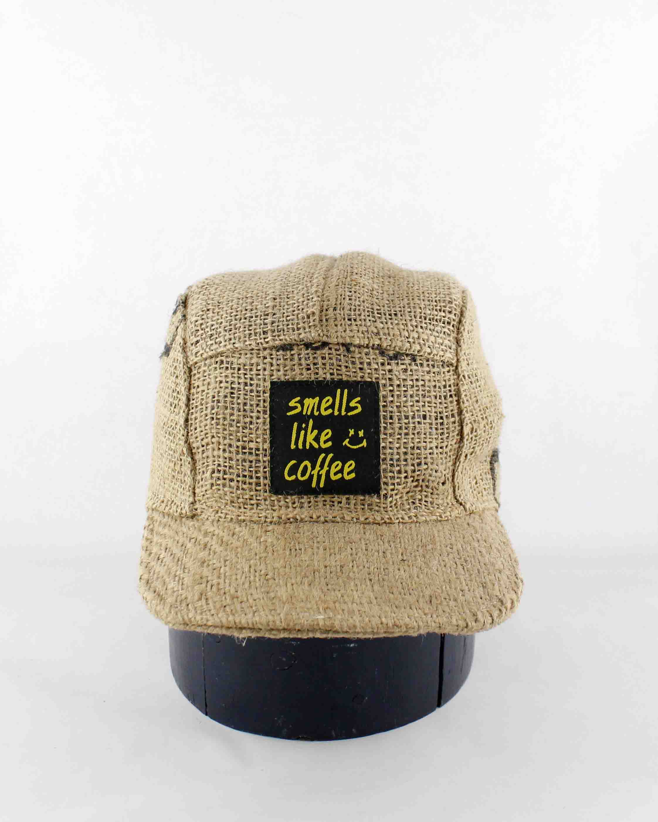 Up-cycled Coffee sack Cap 08