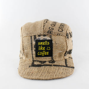 Up-cycled Coffee sack Cap Custom