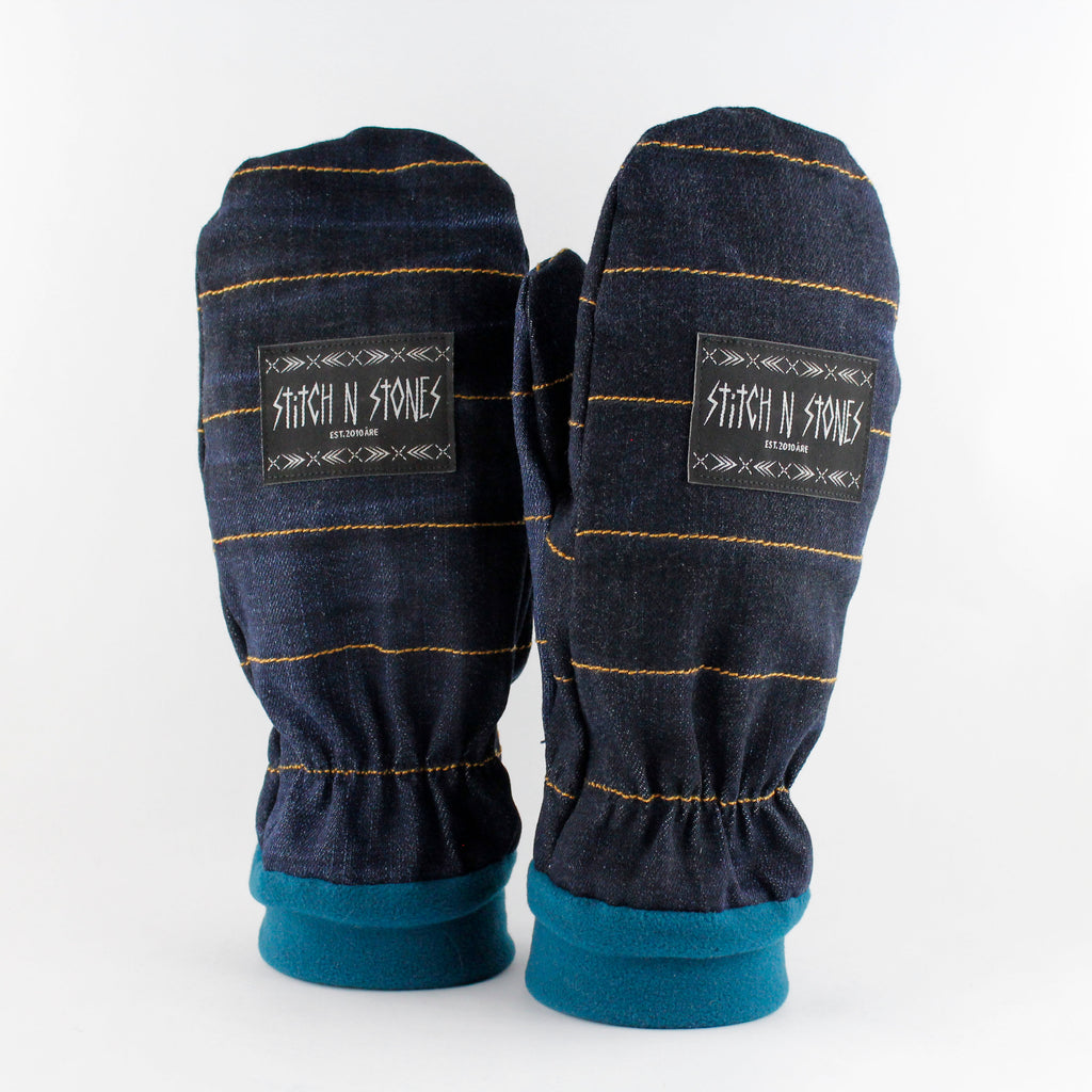 Mittens Blue Jeans