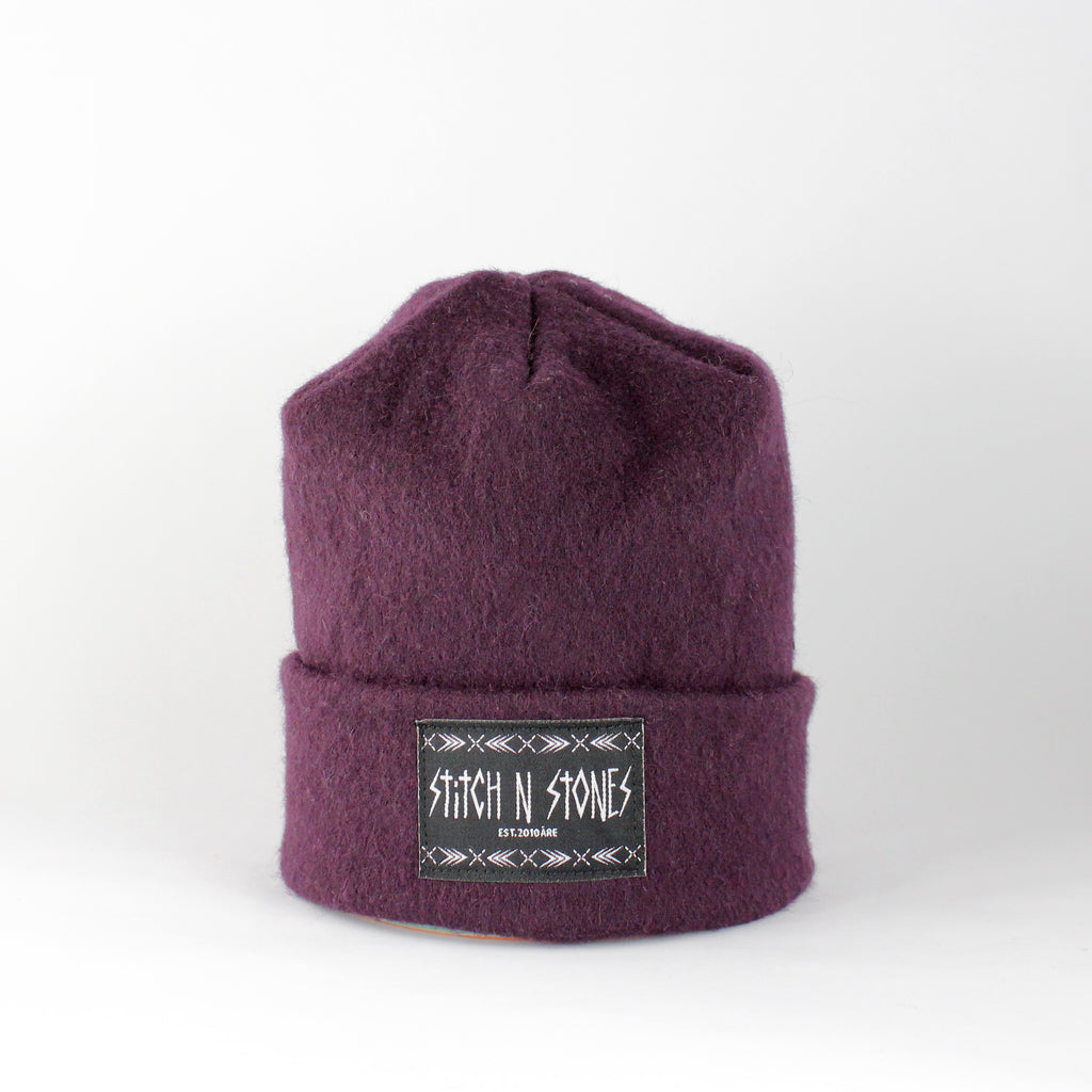 Upcycled Purple Kids Beanie