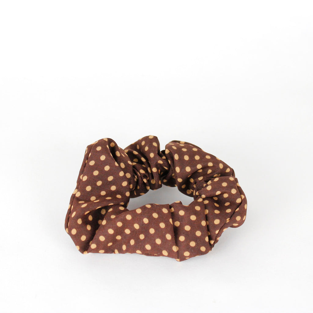 Scrunchie Brown dots