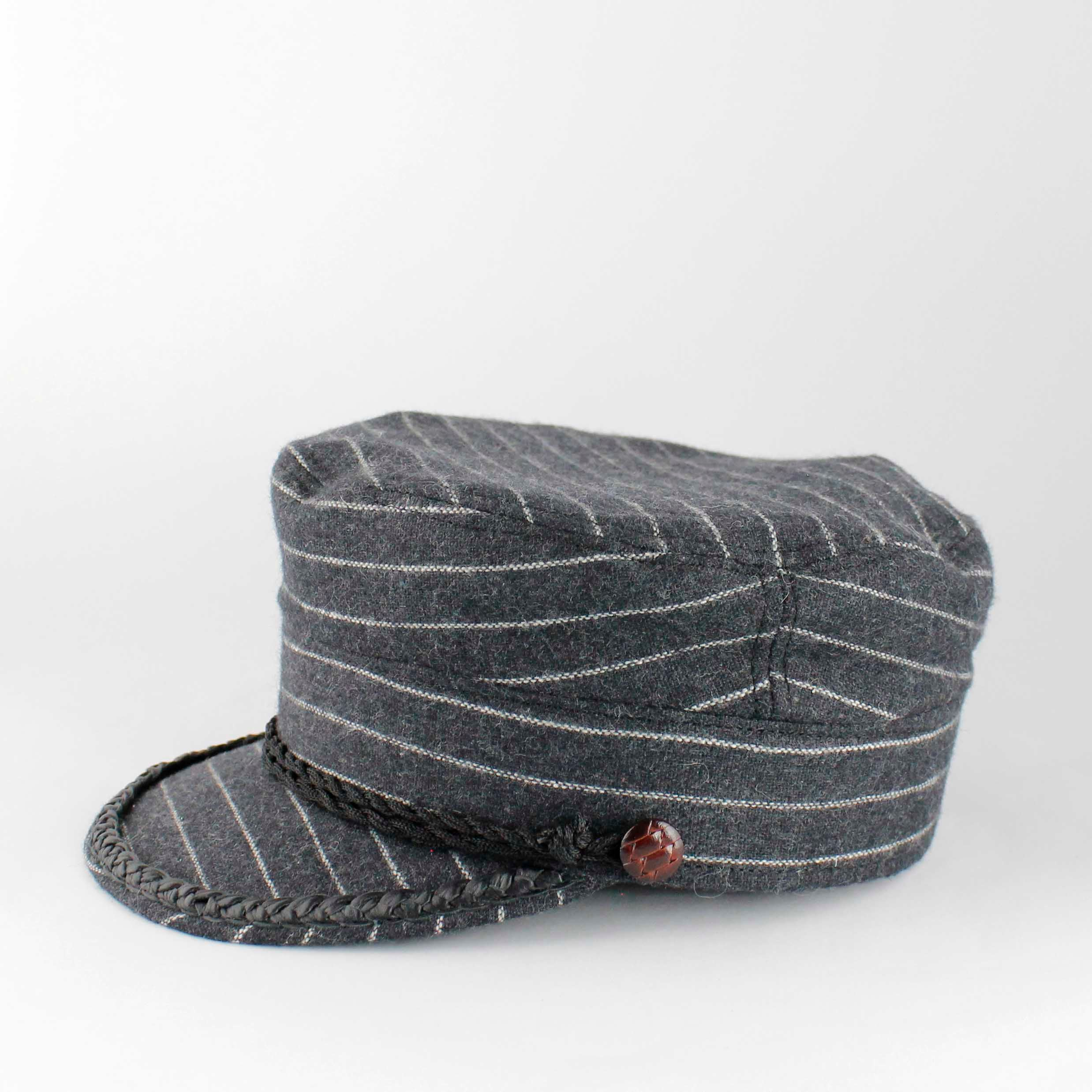 Vega Cap Striped Grey