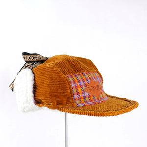 Kids Winter Cap corduroy and wool