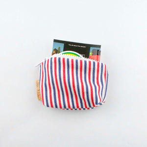 Blue/Red striped purse