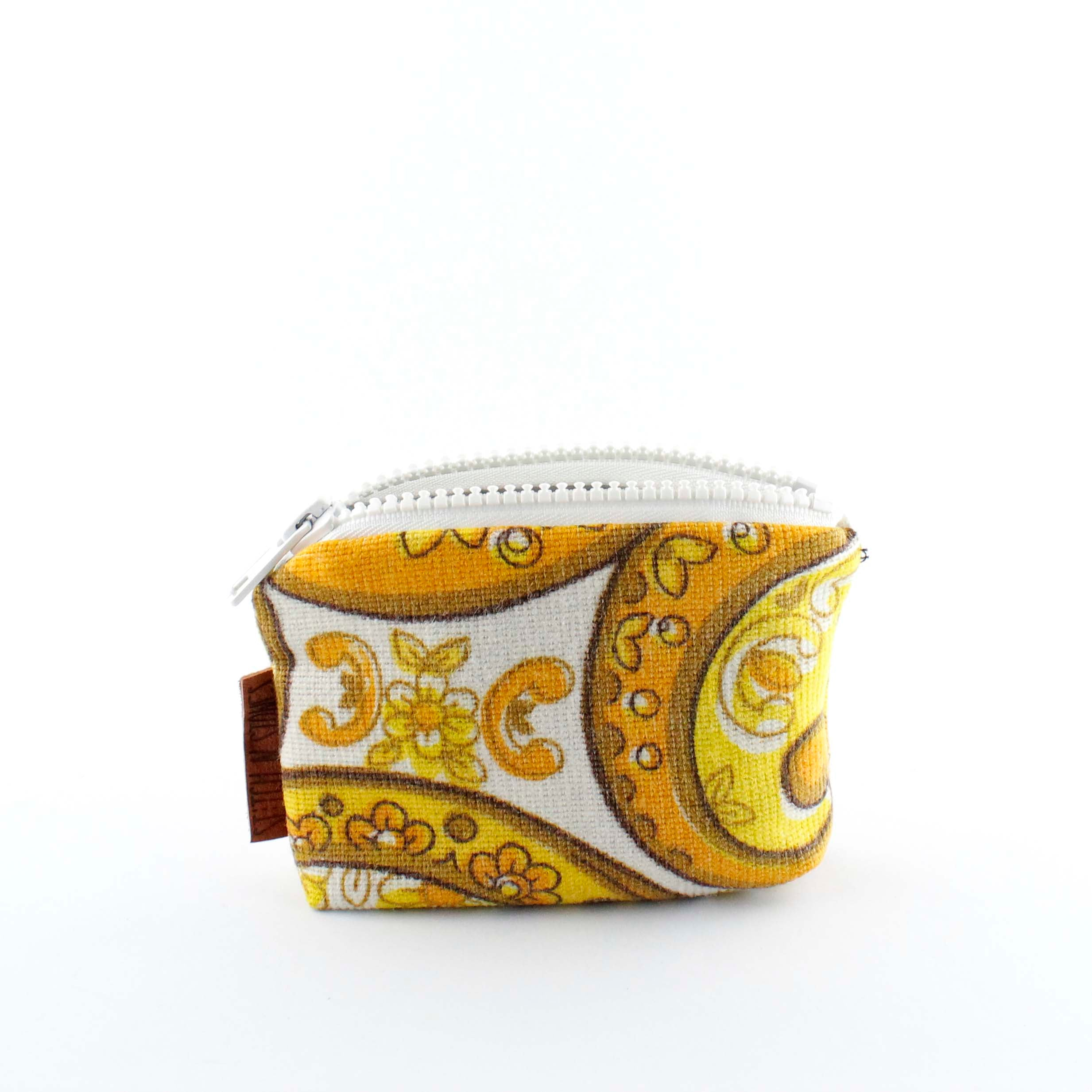 Yellow paisley purse