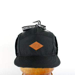 Black Wintercap leather patch
