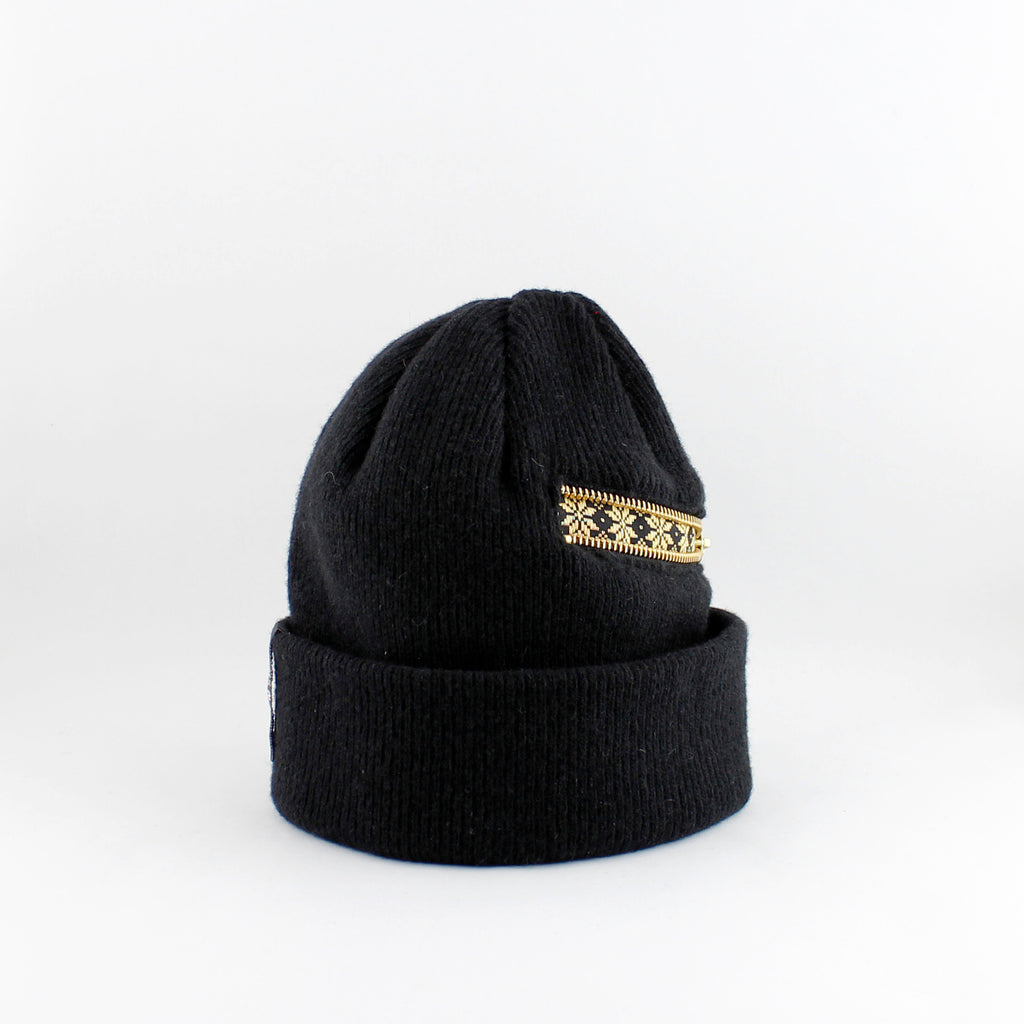 Zipper Beanie Snow golden
