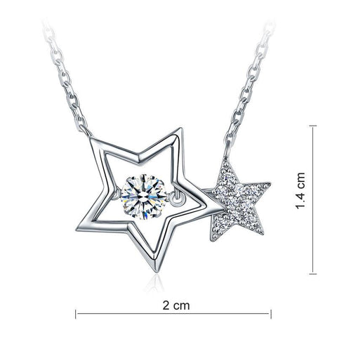 Stars Dancing Stone Necklace