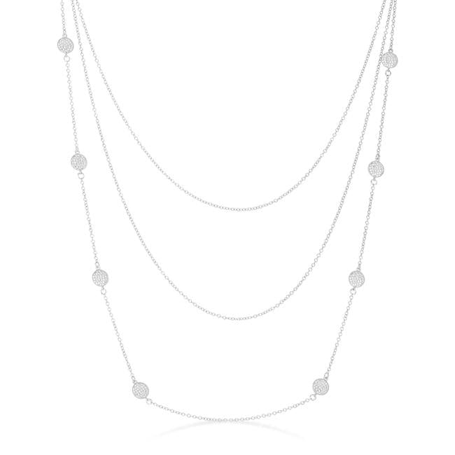 Disc Layered Station Necklace