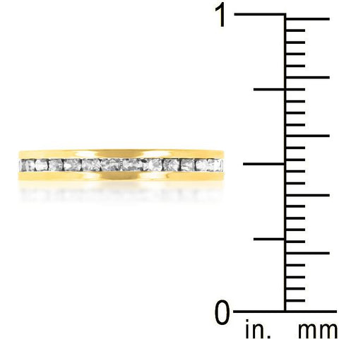 Stylish Stackables Clear Crystal Gold Ring