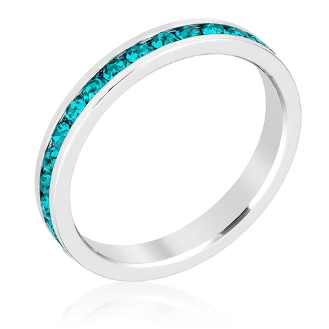 Stylish Stackables with Turquoise Crystal Ring