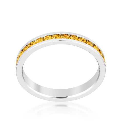 Stylish Stackables with Yellow Crystal Ring