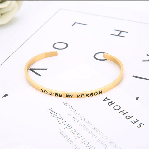 YOU'RE MY PERSON Friendship Bangle