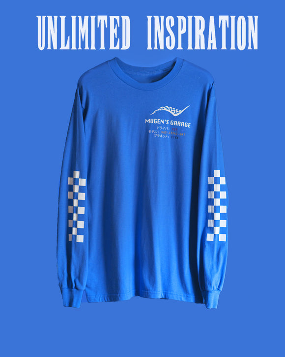 Origami Blue MOTORSPORT Long Sleeve T-Shirt + Digital Album