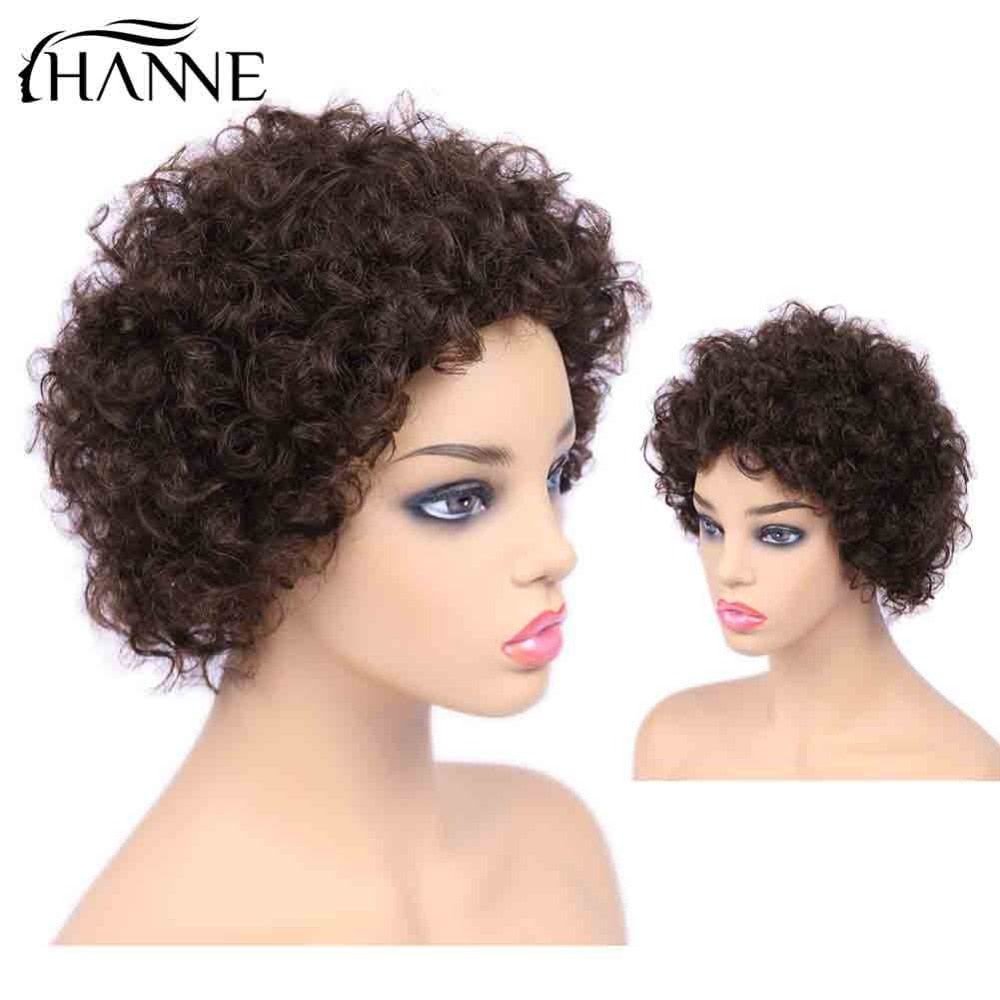 Afro Kinky Curly Wig Short Afro Wigs Brazilian