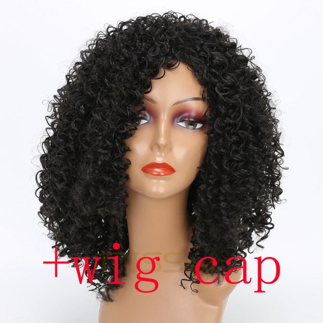 Afro Wig Synthetic Hair African Hairstyle High Temperature Fiber ...