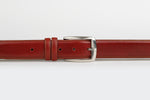 Burnt Orange - Plain Leather Belt