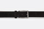 Black - Plain Leather Belt