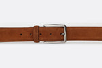 Dark Tan - Plain Suede Leather Belt