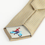 Soft Gold - Mini Spot Silk Tie