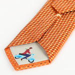 Orange - Mini Spot Textured Silk Tie