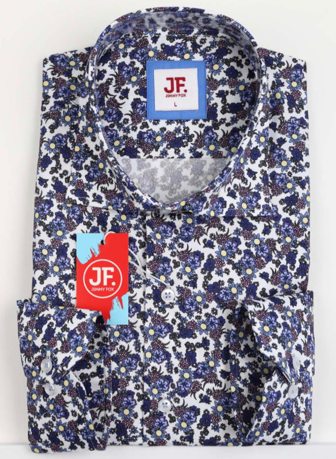 SAMPLE Mini Floral Print Slim Fit L/S Shirt