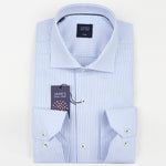 White Mini Check Textured Weave Pure Cotton Luxury Shirt