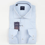 White Subtle Striped Textured Weave Pure Cotton Luxury Shirt