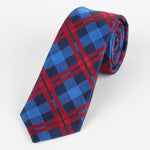 Navy/Royal/Red - Check Microfiber Neck Tie