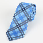 Sky/Blue/Navy - Check Microfiber Neck Tie