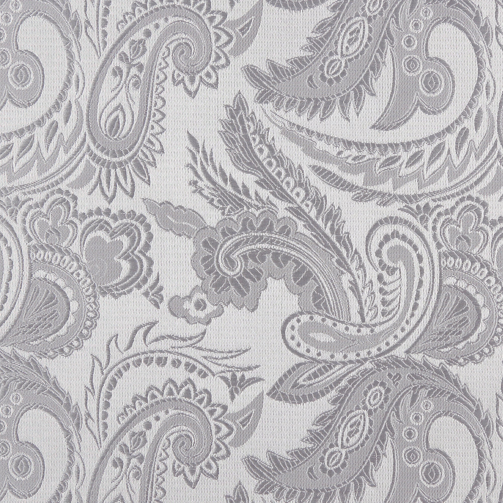 Silver - Luxury Paisley Microfiber Pocket Square