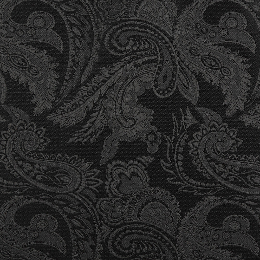 Black - Luxury Paisley Microfiber Pocket Square