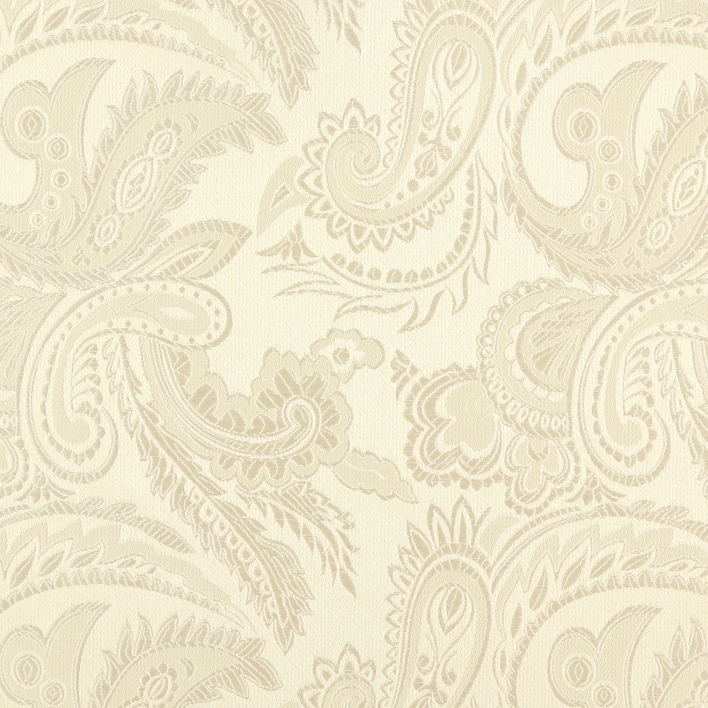 Ivory - Luxury Paisley Microfiber Pocket Square