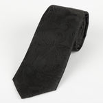 Black - Luxury Paisley Microfiber Tie