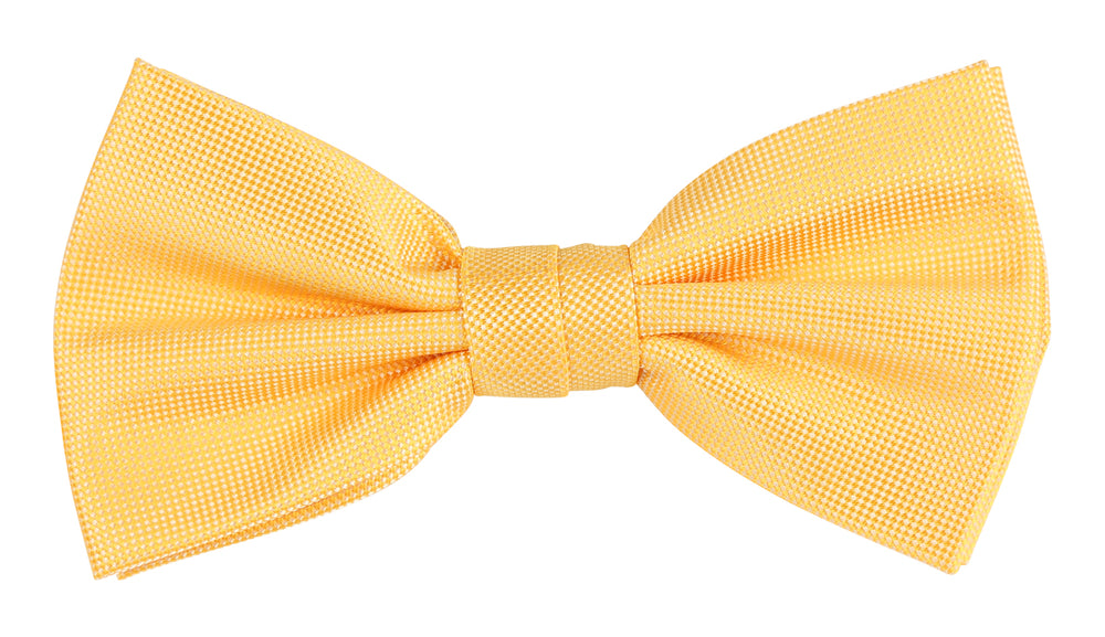Gold - Subtle Textured Weave Microfiber Bow Tie