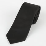 Black - Subtle Textured Weave Microfiber Tie