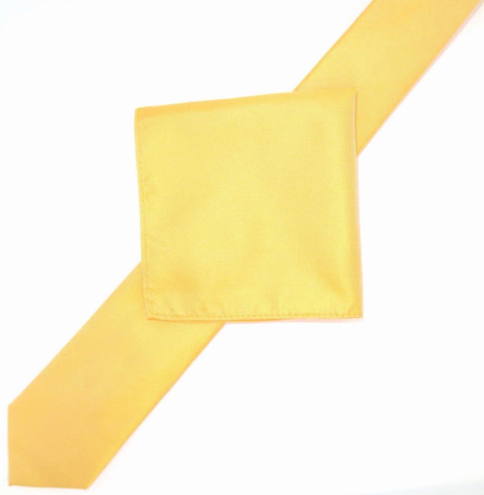Gold - Subtle Textured Weave Microfiber Pocket Square