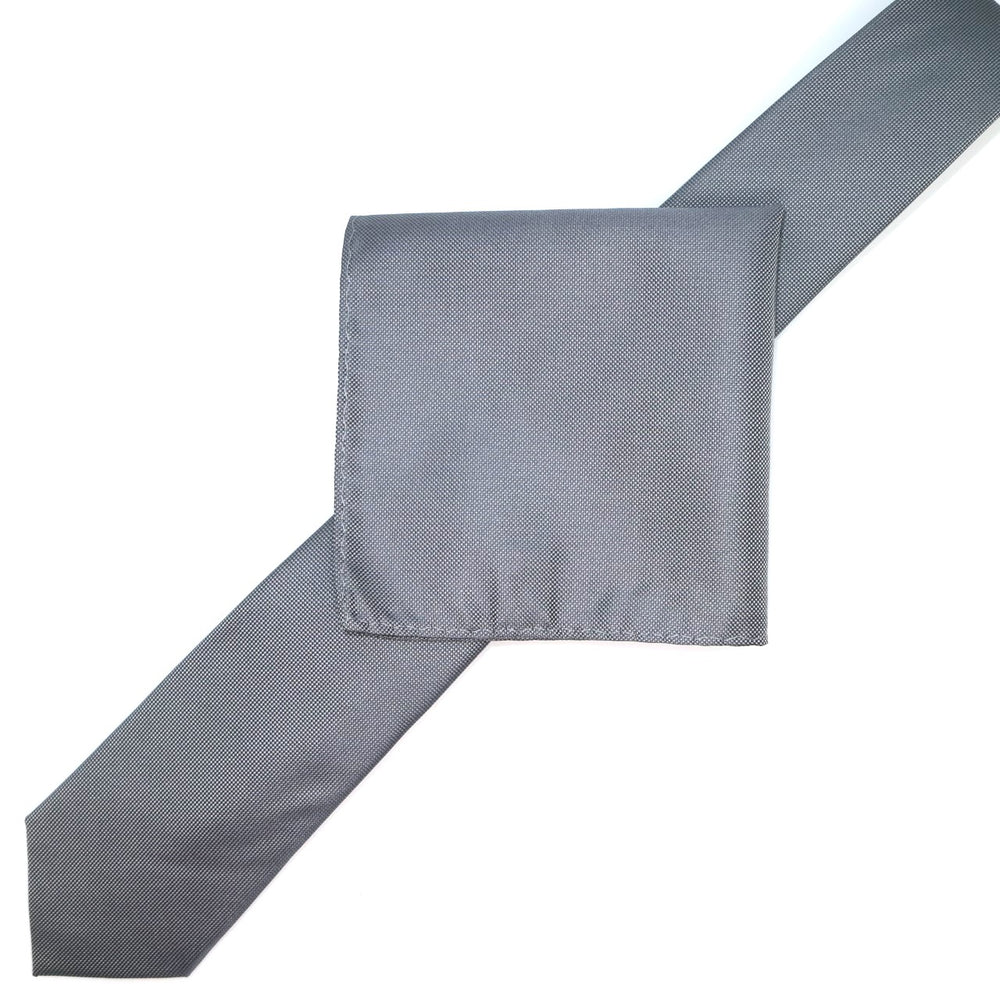 Charcoal - Subtle Textured Weave Microfiber Pocket Square