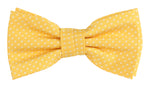 Gold/White - Mini Spot Microfiber Bow Tie